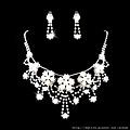 ea022585水鑽套裝 結婚 新娘套鏈結婚飾品新款2012項鏈耳環女1053
