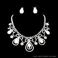 ea044420新娘套鏈結婚飾品新款2012項鏈耳環女1049