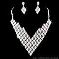ea052480新娘套鏈結婚飾品新款2012項鏈耳環女1041