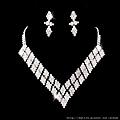 ea054435新娘套鏈結婚飾品新款2012項鏈耳環女1045