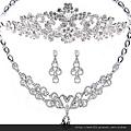 eb001999新娘飾品三件套新娘飾品新娘項鏈結婚婚紗項鏈頭飾項鏈皇冠套裝