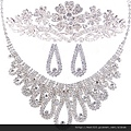 eb026999新娘飾品韓式套裝皇冠頭飾結婚水鑽套鏈新娘配飾發飾影樓三件套