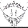eb041999新娘飾品三件套婚紗項鏈新娘套鏈皇冠套裝韓式結婚配飾首飾