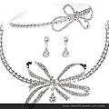 eb045999新娘飾品 結婚水晶皇冠 日韓頭飾 飾品三件套裝 婚紗配飾