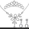 eb065999新娘飾品新娘套鏈結婚項鏈飾品婚紗配飾皇冠韓式三件套