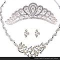 eb063999珍珠 新娘飾品三件套 結婚飾品套裝 婚慶 套鏈 項鏈