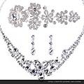 eb070999全鑽套鏈 飾品三件套 華麗婚紗配飾發飾頭飾皇冠