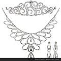 eb074999新娘飾品套裝新娘項鏈新娘套鏈水鑽首飾皇冠新娘項鏈韓式三件套