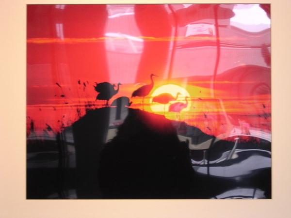 火紅的夕陽