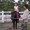 倢安的表情好好笑哦.因為換她的小馬在便便了