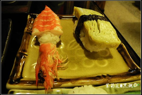 蝦及玉子燒的握壽司