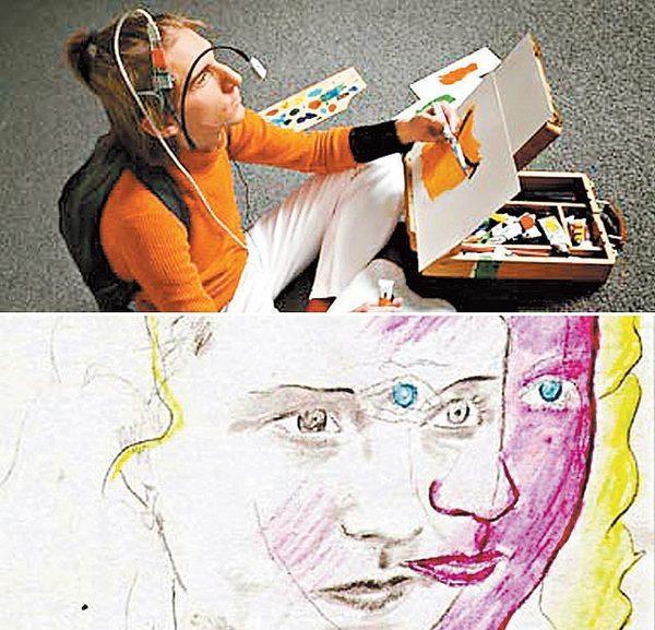 色盲畫家  用耳朵能聽出顏色