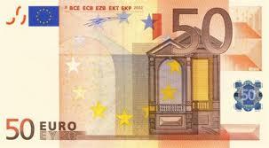 五十歐元鈔票