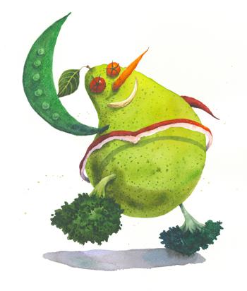 Vegetable Man by Brenda Chen