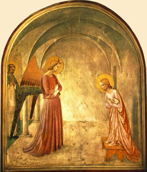2)Fra Angelico1432The Annunciation, friar's cell, San Marco
