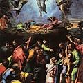 拉菲爾的「主顯聖容」,The Transfiguration, unfinished.jpg