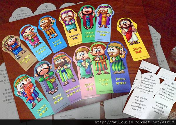耶穌+12門徒書籤
