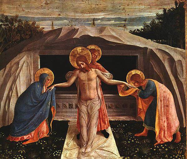 angel The Entombment, predella, San Marco altarpiece.jpg