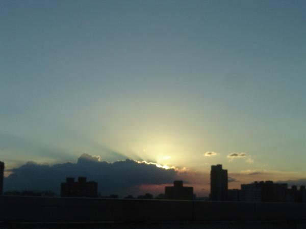環快上的夕陽