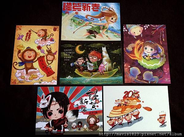 小圈圈插畫家們的,『猴靈猴現』聯名賀年明信片!!