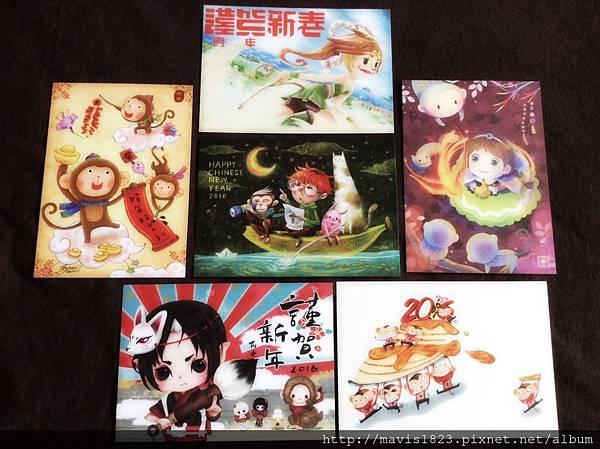 小圈圈插畫家們的,『猴靈猴現』聯名賀年明信片!! (美肌一下下~)