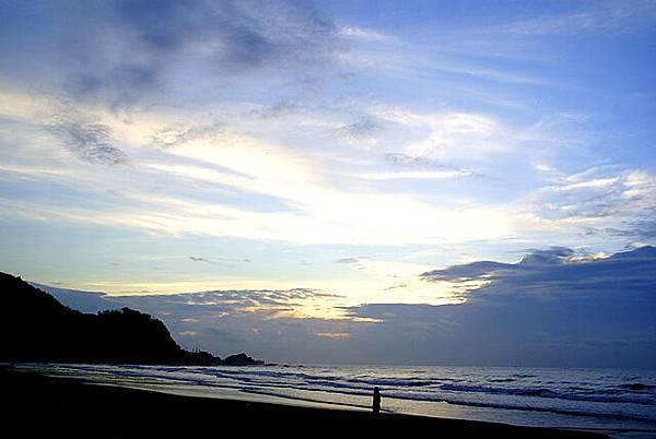 宜蘭海天民宿後方的天空