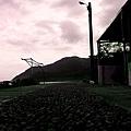 宜蘭廟口小吃後的天空