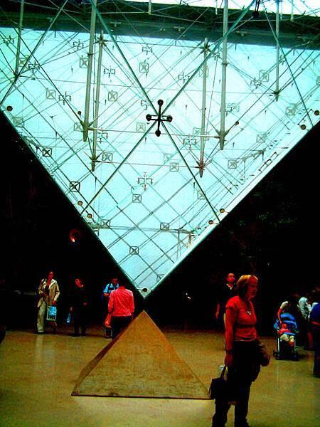 羅浮宮內的金字塔