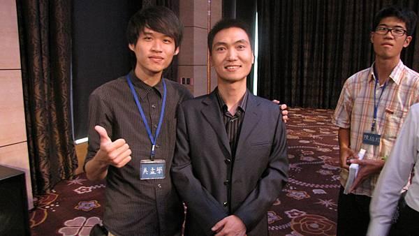 和王紫杰老師拍照