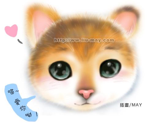 可愛貓咪頭