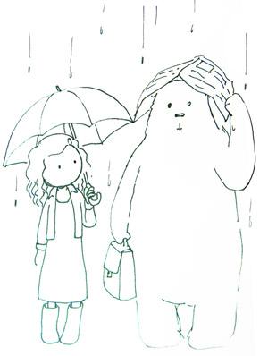 天在下雨-草圖