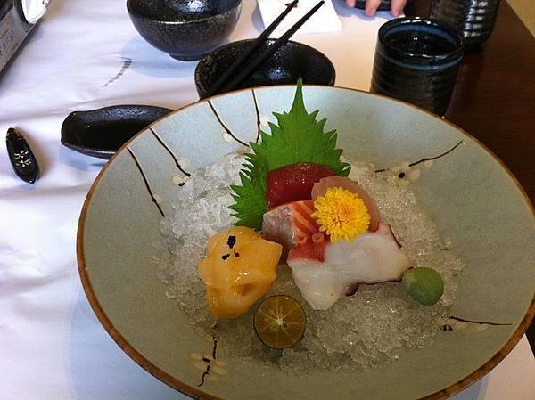 鮮美的生魚片刺身