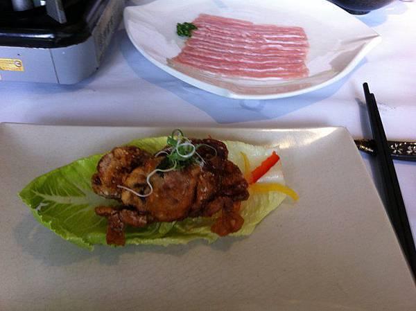 松阪豬肉片和軟殼蟹