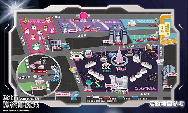 耶誕城地圖