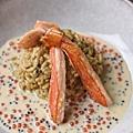 魚卵松葉蟹燉飯
