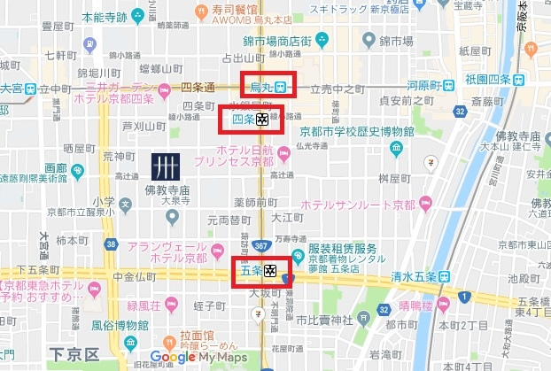 MIMARU京都 西洞院高辻 地圖