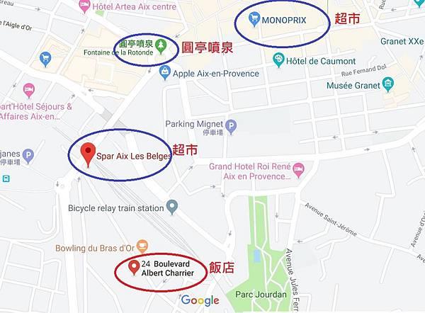 艾克斯飯店地圖1