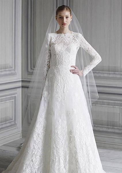 冬天長袖婚紗