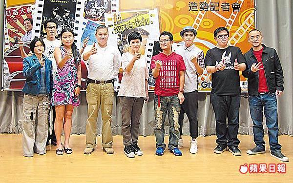 7部國片演員和工作人員昨出席造勢記者會,李烈(中)、黃立成(右)信心滿滿