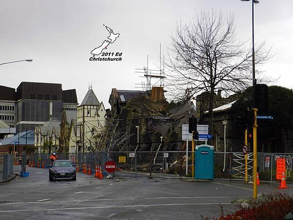 倒塌的基督城市中心