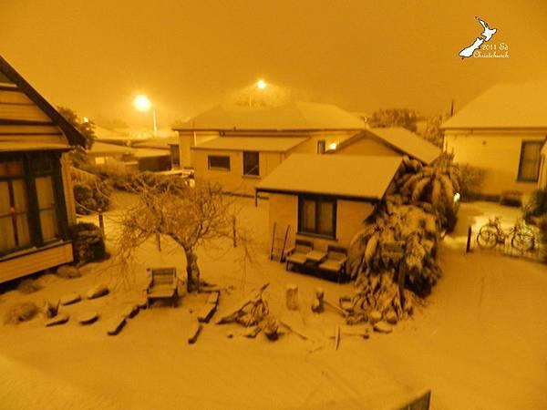 下大雪的基督城