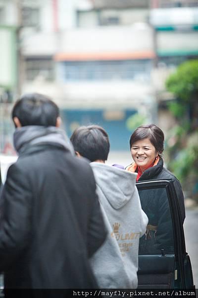 依舊笑容燦爛的媽咪
