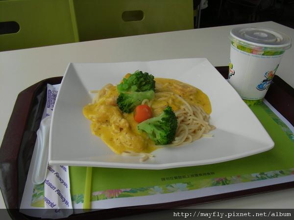 午餐~奶油起司義大利麵