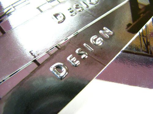 我的個人名片(銀箔卡+打凸)