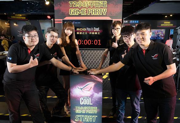 nEO_IMG_華碩ROG 72小時不斷電GAME PARTY正式開始,多位人氣實況主到場助陣(左起Joeman、懶貓、Mita、Colalin、Winds及Bebe)