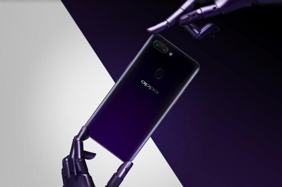 OPPO R15顏色分別有星空紫、熱力紅、雪盈白,R15 Pro則為夢鏡紫(如圖)與夢鏡紅雙色,全新配色與多種款式供消費者挑選。.jpg