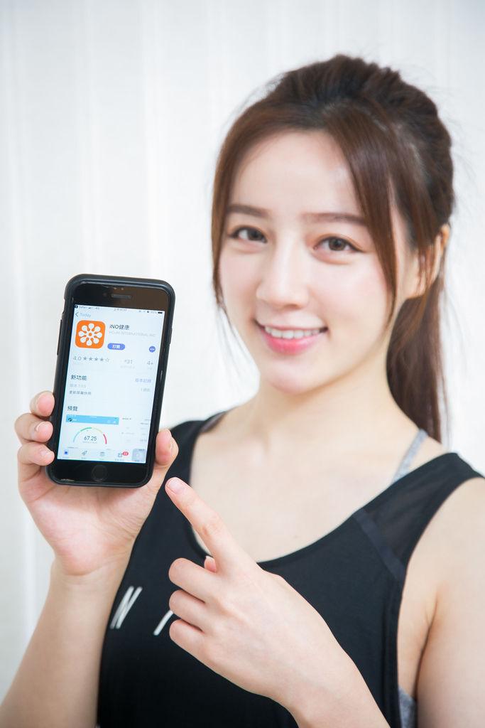 新聞照片2:iNO CB760 藍牙體重計,連結專屬APP一鍵管理12項身體數據.jpg