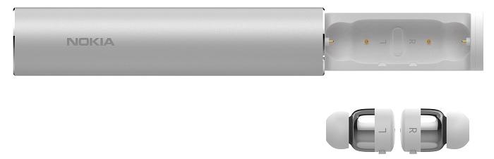 nEO_IMG_Nokia 真無線藍牙耳機_浩瀚銀_充電槽與耳機.jpg