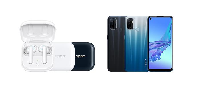 nEO_IMG_OPPO 今(17)日推出支援同價位最高90Hz螢幕刷新率的OPPO A53(右),及全新真無線耳機OPPO Enco W51(.jpg
