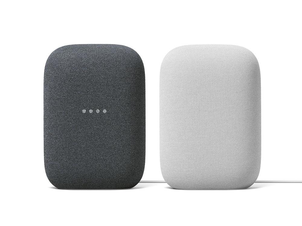 圖二:全新智慧音箱 Nest Audio,在台推出「石墨黑」(圖左) 與「粉炭白」(圖右) 兩色.jpg